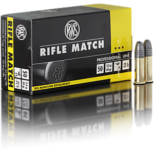 RWS - MUNITION - RIFLE MATCH - 22LR - X500 (10 BOITES DE 50)