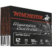 WINCHESTER - MUNITION - CAL 12/70 - MAGNUM BUCKSHOT - COPPER PLATED - X5