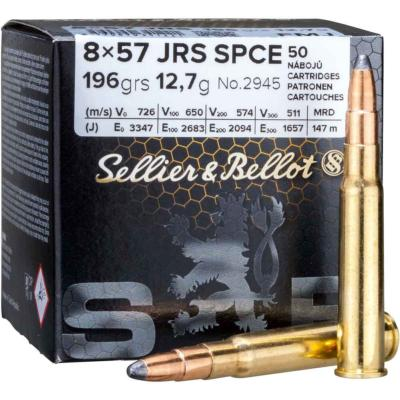 SELLIER & BELLOT - MUNITION - CAT C - 8X57 JRS - 196 GR - 12.7GR - X50