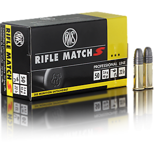 RWS - MUNITION - CAT C - RIFLE MATCH S - 22LR - 2314372 - X500