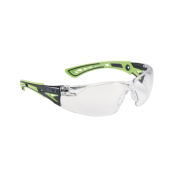 BOLLE - LUNETTE PROTECTION - SAFETY RUSH+ - INCOLORE - VERT NOIR - PLATINUM