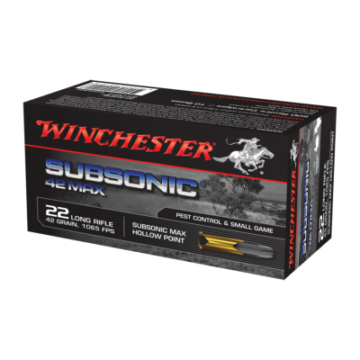 WINCHESTER - MUNITION - 22LR - SUBSONIC 42 MAX - X50