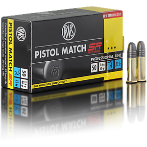 RWS - MUNITION - CAT C - PISTOL MATCH SR - 22LR - 2317799 - X50
