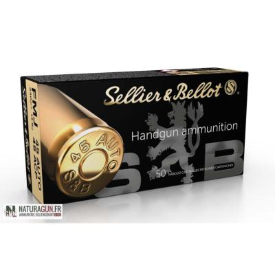 SELLIER & BELLOT - MUNITION - CAT B - 45 ACP - 230 GR - FMJ - 3039 -X50