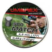 UMAREX - MUNITION - CAT D - PLOMBS - 4.5MM - PROMATCH - PLAT - 4.1967 - X500