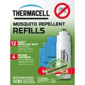 THERMACELL - ANTI MOUSTIQUES - PACK RECHARGE 48H+7H - 12 PLAQ. - 4 CART. BUTANE