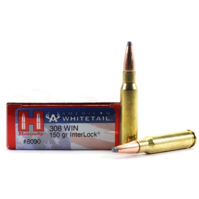 HORNADY - MUNITION - CAT C - 308WIN - 150GR - INTERLOCK - 773520 - X20