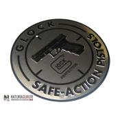 GLOCK - GOODIES - PANNEAU GLOCK - ALU - SAFE ACTION - DIAM 30 CM - 2446
