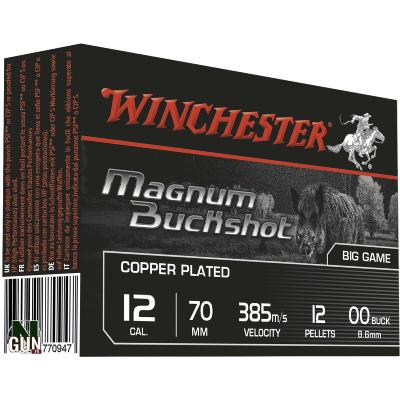 WINCHESTER - MUNITION - CAT C - 12 - MAG. BUCKSHOT - C. PLATED - CHBS12P12M - X5
