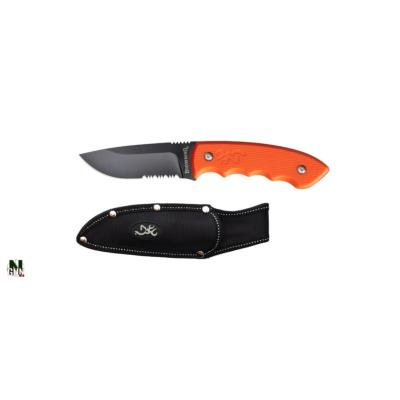 BROWNING - COUTEAU FIXE - EXPLORER - ORANGE - POIGNEE ANTIGLISSE - 32220184