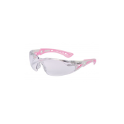 BOLLE - LUNETTE PROTECTION - SMALL SAFETY RUSH+ - INCOLORE - ROSE BLANC