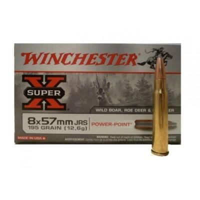 WINCHESTER - MUNITION - CAT C - 8X57 JRS - SUPER X - 195 GR - POWER POINT - X20