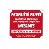 PANCARTE ALU PROPRIETE PRIVEE - A50854