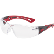 BOLLE - LUNETTE PROTECTION - SAFETY RUSH+ - INCOLORE - ROUGE NOIR - PLATINUM