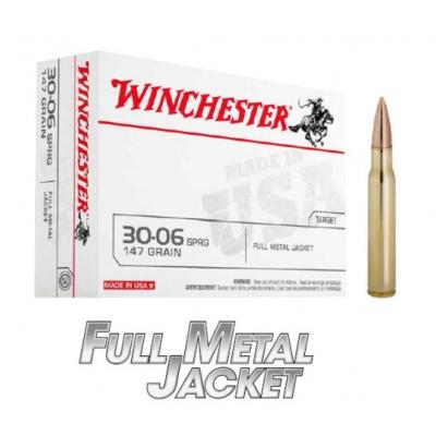 WINCHESTER - MUNITION - CAT C - 30-06 SPRG - 147 GRAIN - FMJ - CUSA3006 - X20