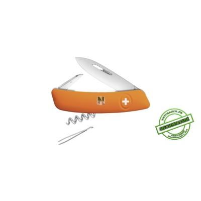 SWIZA - COUTEAU SUISSE - MADE IN SWISS - 6 FONCTIONS - ORANGE - LINER LOCK - ZD0